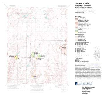 Bunker Hill Illinois Map.Illinois State Geological Survey Coal Mines In Illinois Bunker Hill