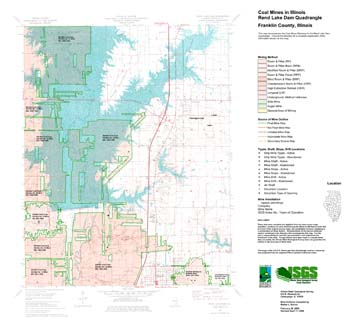 Rend Lake Illinois Map.Illinois State Geological Survey Coal Mines In Illinois Rend Lake
